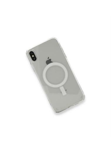 Apple iPhone X / Xs için MagSafe özellikli Şeffaf Kılıf Renksiz